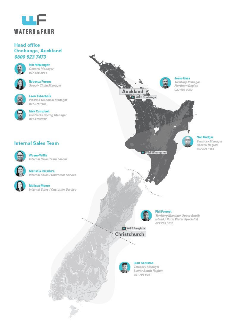 Waters and Farr Team across New Zealand